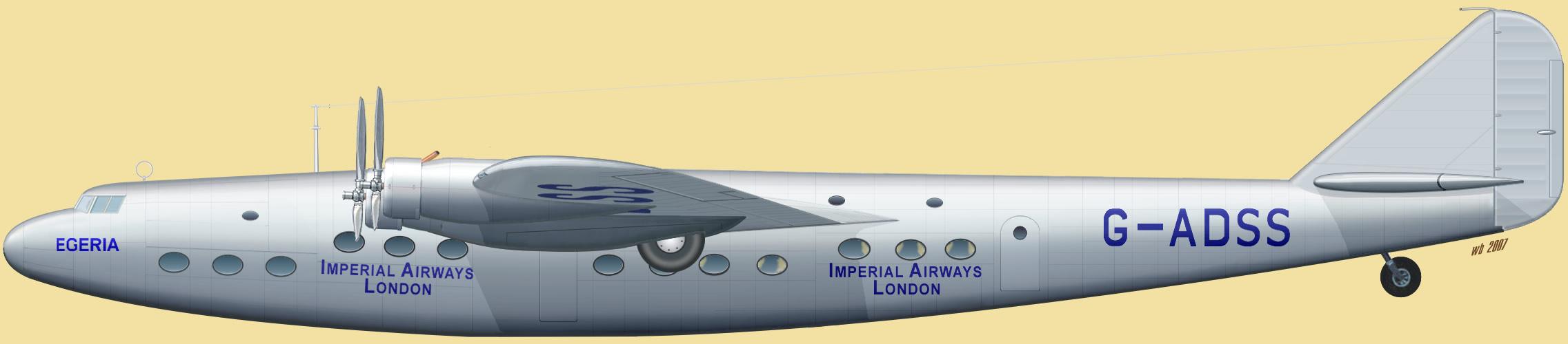 ... imperial airways g adss egeria серийный номер aw 115