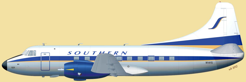martin 4 0 4 southern airways бортовой номер n141s ...